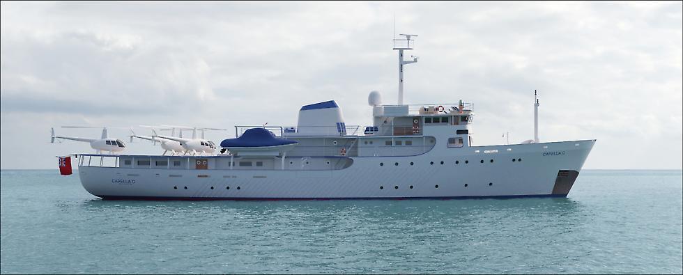 Conversion d'un navire hydrographique en superyacht